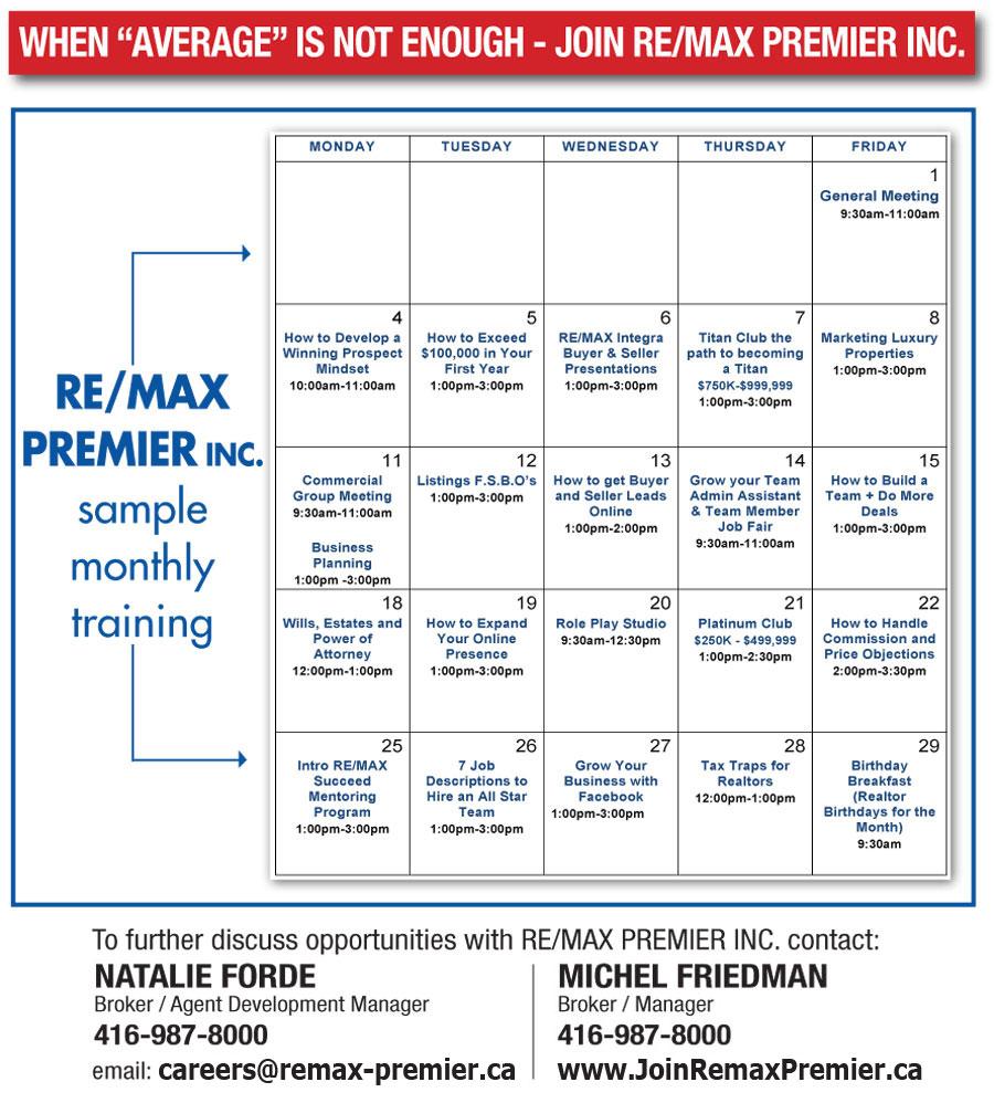 Training Coaching Programs – Sample Training Calendar